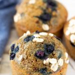 oat flour blueberry muffins