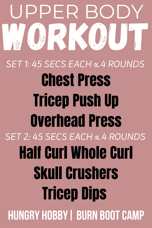 upper workout PIN