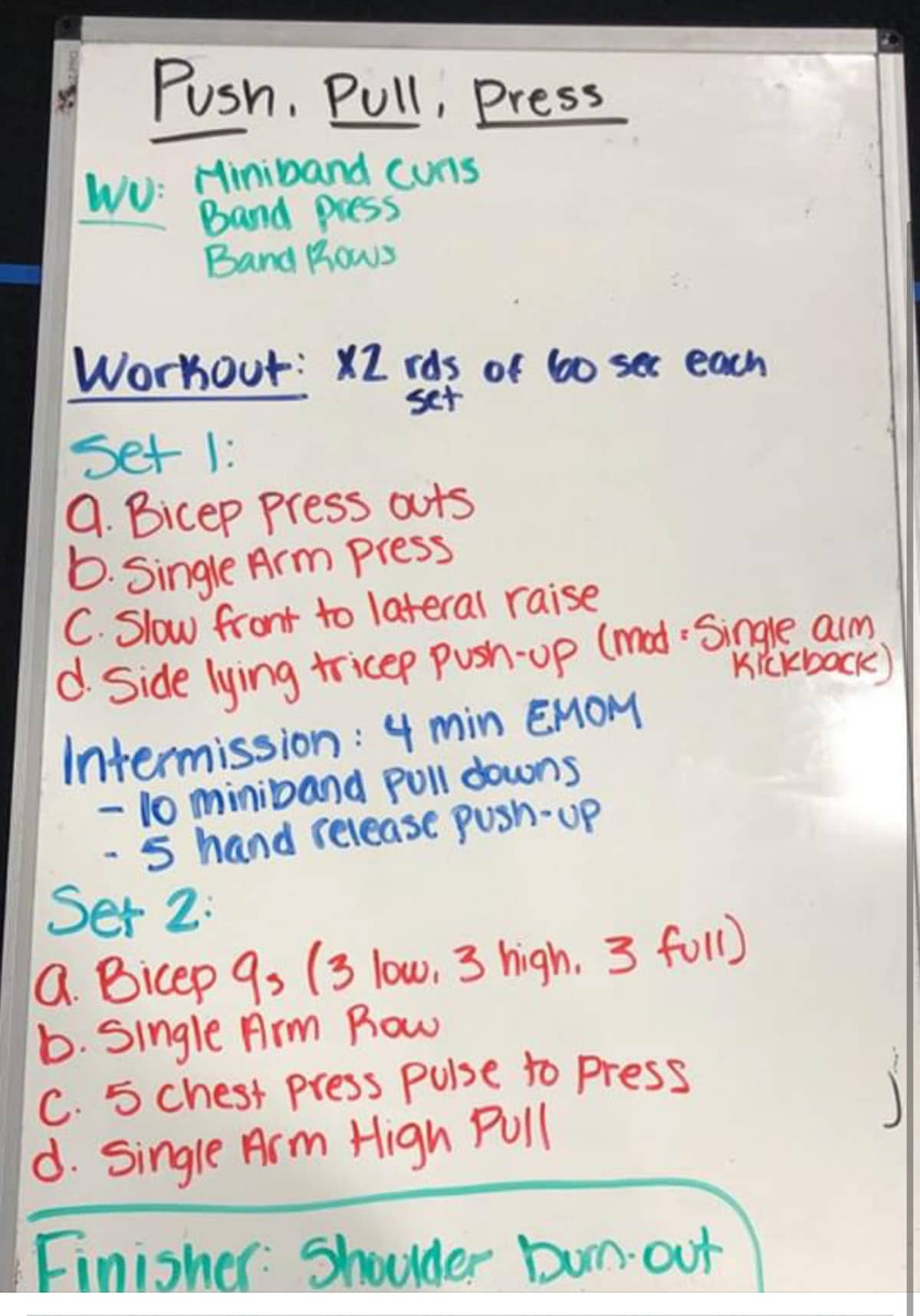 upper body workout burn boot camp board