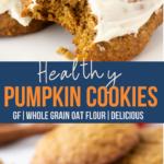 healthy pumpkin cookies piN image