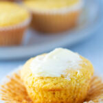 Healthy Cornbread Muffins with butter
