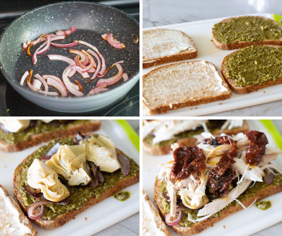 leftover turkey sandwich collage