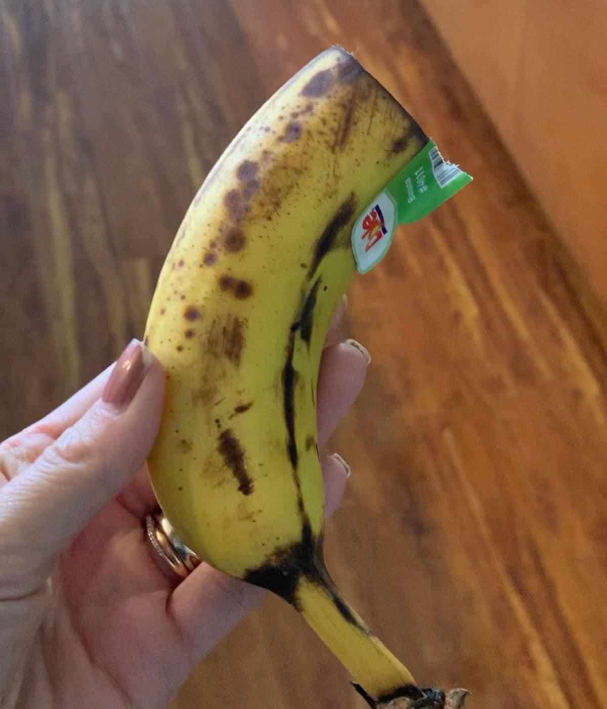 half banana