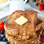egg white french toast plate with butter