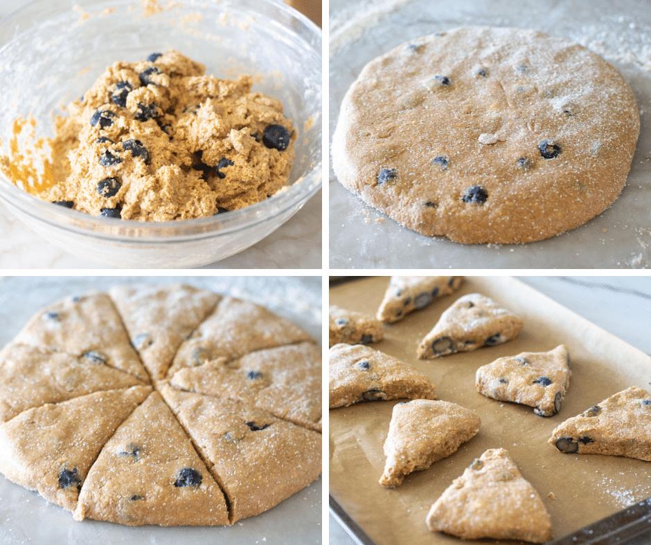 blueberry oat flour scones