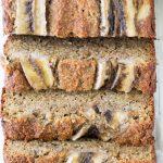 Almond Flour Banana Bread Overhead