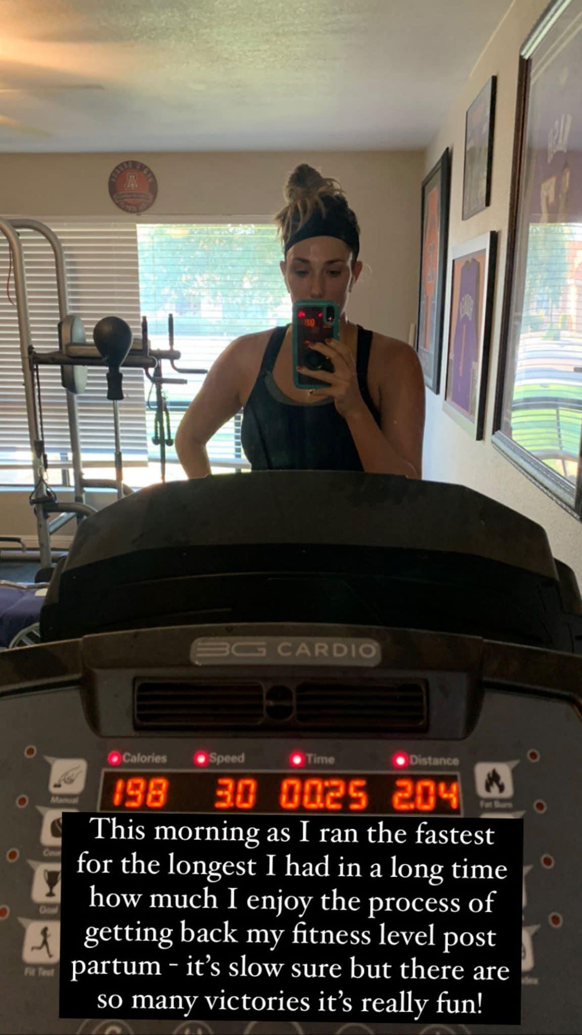 run 17 weeks post partum